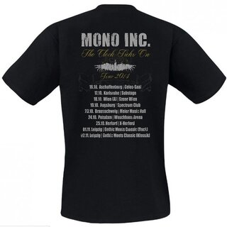 T-Shirt MONO INC. The Clock Ticks On-Tour 2014