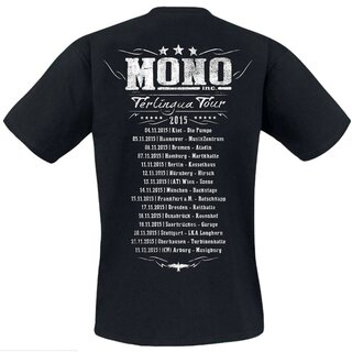 T-Shirt MONO INC. Terlingua Tour 2015 - red-blue