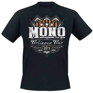 T-Shirt MONO INC. Terlingua Tour 2015 - orange-grey S