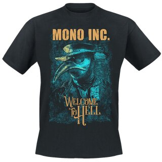 T-Shirt MONO INC. Welcome To Hell Tour S