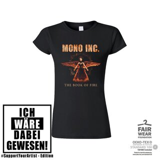 #SupportYourArtist-Girl-Shirt MONO INC. The Book of Fire Tour XL