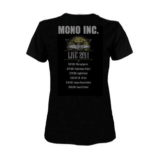 Girly-Shirt MONO INC. Festivals 2014 S